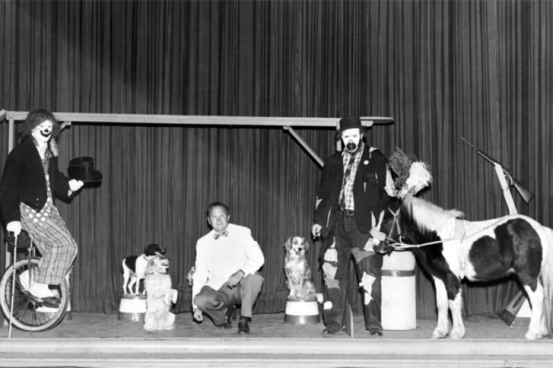 The proverbial dog and pony show is actually a real thing that's alive and well today. Underwood Archives/Getty Images