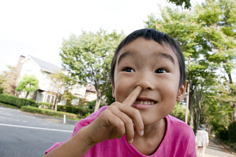 Hygiene hypothesis aside, nothing much good comes from digging for nose gold. KOICHI SAITO/a.collectionRF/Thinkstock