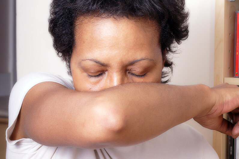 She's perfected her sneezing form. Margaret Edwards/iStock/Thinkstock