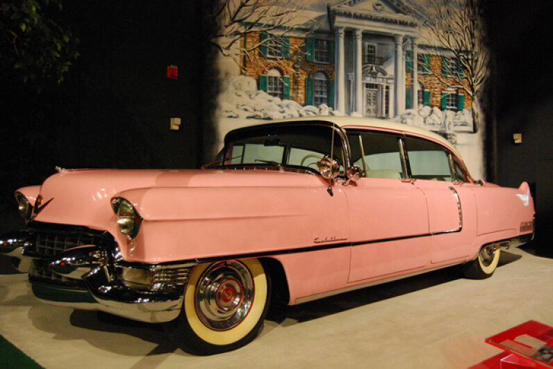 One of Elvis Presley's pink Cadillacs on display at his Graceland mansion in Memphis, Tenn. (Creative Commons/flickr/AleksandraR)