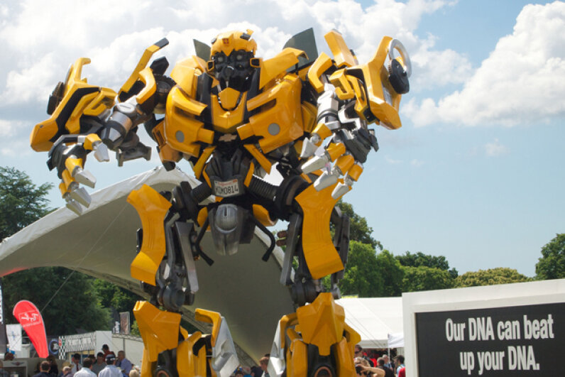 Bumblebee is a little different from film to film; however, he's always bright yellow and always a bit of a smart mouth, too. (Creative Commons/flickr/blackplastic)