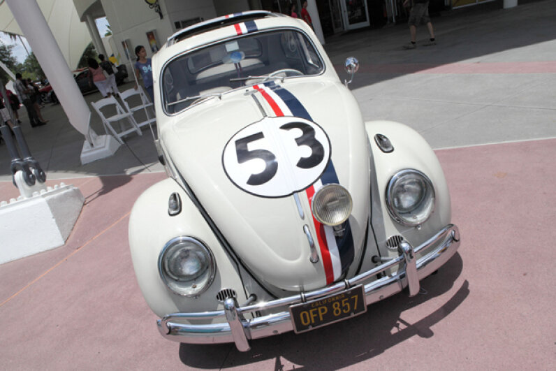 Actor Dean Jones drove Herbie in the early Walt Disney family films. (Creative Commons/flickr/Sam Howzit)