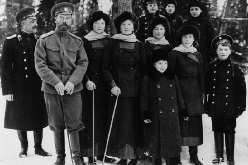 The Romanov family. Topical Press Agency/Hulton Royals Collection/Getty Images