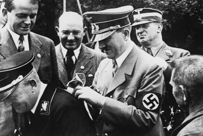 Hitler may have penned secret diaries, but the ones unearthed in 1945 were fakes. Keystone/Hulton Archive/Getty Images