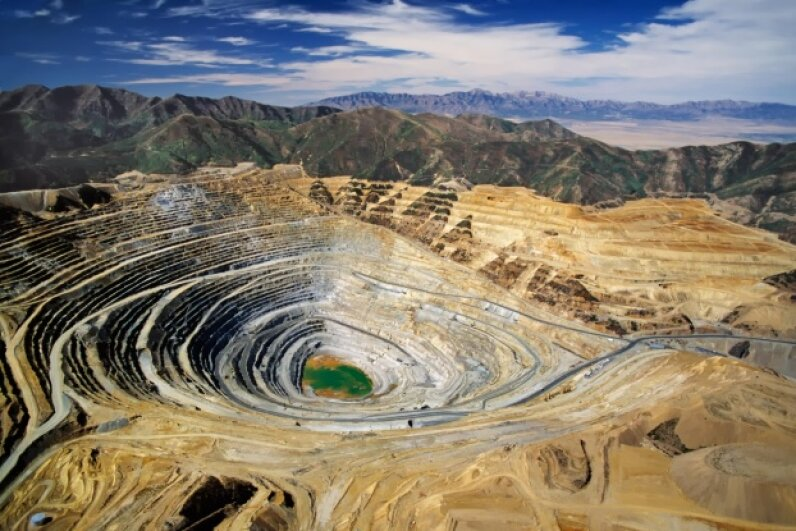 The Bingham Copper Mine has produced about 18.7 million tons of copper since excavation began in 1906. Hemera/Thinkstock