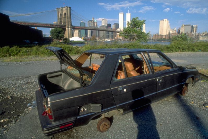 Stolen cars often end up like this. Joseph Sohm/Visions of America/Corbis