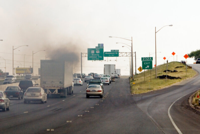 """Diesel fuel spews out a lot of crud, known more scientifically as """"particulates."""" Patrick Byrd/Science Faction/Corbis"""