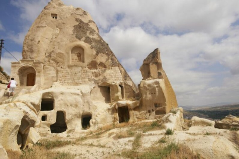 Part of the warren of ancient, man-made caves in the Cappadocia region of Turkey. If you visit Cappadocia, you can actually stay in a cave (or a cave-style accommodation). iStock/Thinkstock