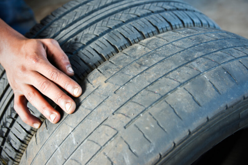 Even if the tread looks decent, rubber deteriorates over time. (Chris Fertnig/Getty Images)