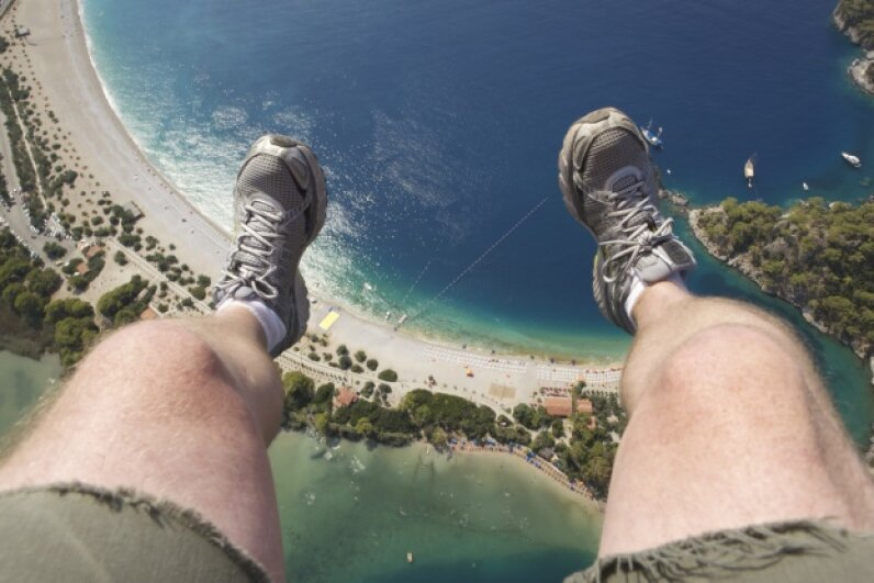 Scared of heights? This situation might make you perspire. Heavily. Britimage/iStock/Thinkstock