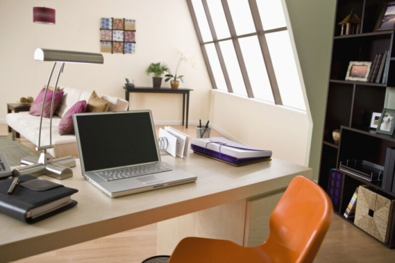 If you have a dedicated workspace at home that's your primary place of business, rejoice! Claiming it as a deduction is easier than it used to be. ©Stockbyte/Thinkstock