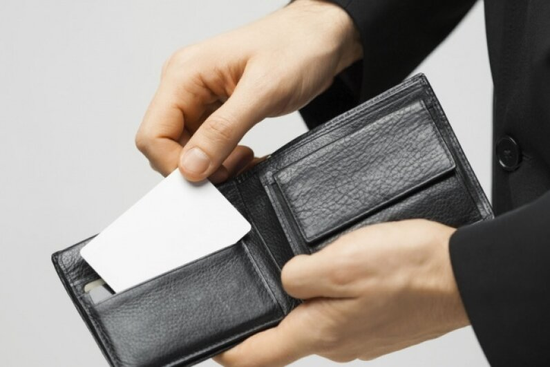 Your wallet card doesn't have to be fancy — just jot down your details on a blank card. ©dolgachov/iStock/Thinkstock