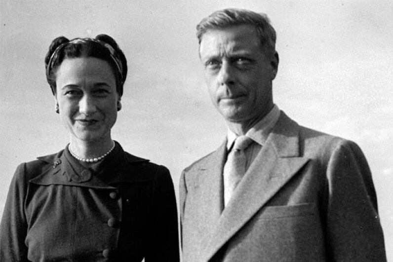 Prince Edward abdicated the throne for Wallis Simpson. Express/Hulton Royals Collection/Getty Images