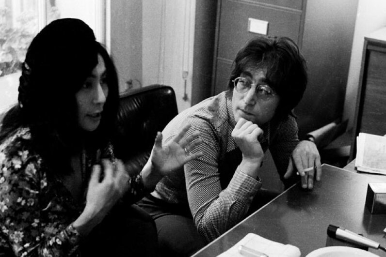 John Lennon and Yoko Ono worked to spread a message of world peace. Michael Putland/Hulton Archive/Getty Images