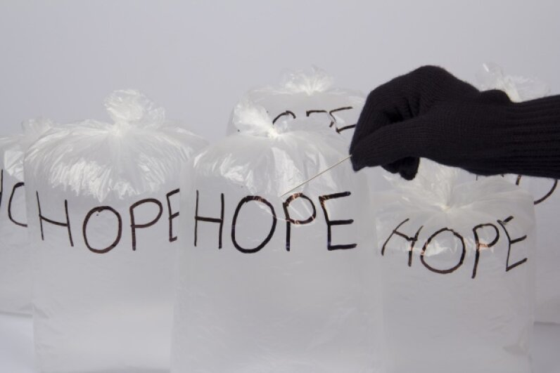 Hopefully, those bags of hope don't break. idildemir/iStock/Thinkstock
