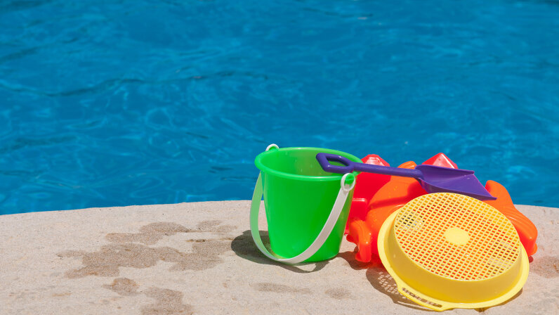 Children's pool buckets