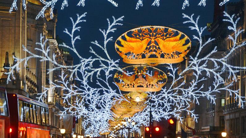 Christmas lights, London