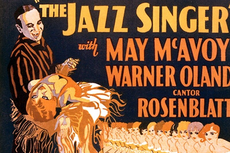 "1927's ""The Jazz Singer"" was one of the first talkies -- and one of the first onscreen musicals. Silver Screen Collection/Moviepix/Getty Images"