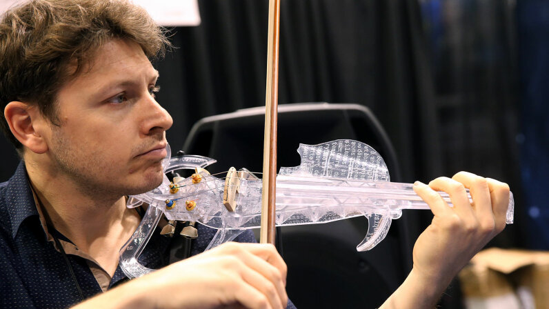 3-D printed violin, Laurent Bernadac