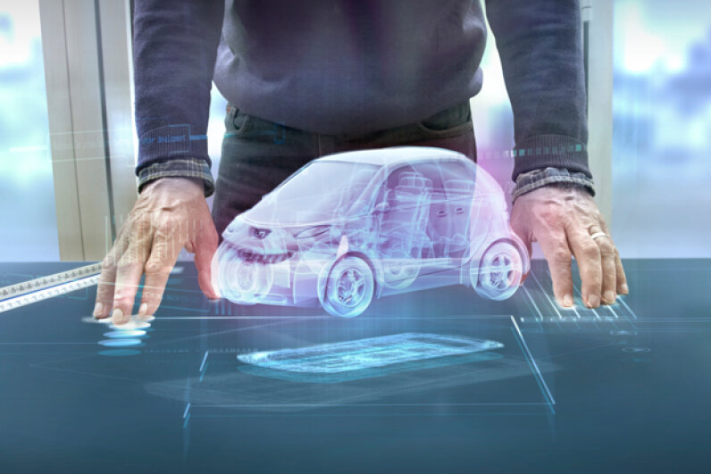 It's possible that augmented reality apps might someday allow consumers to use their own smartphone for auto repairs on-the-go. (Coneyl Jay/Getty Images)