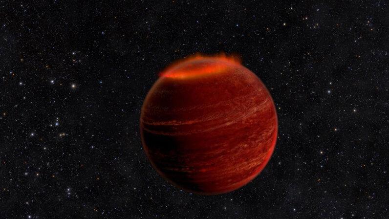 Brown dwarf displays its aurora