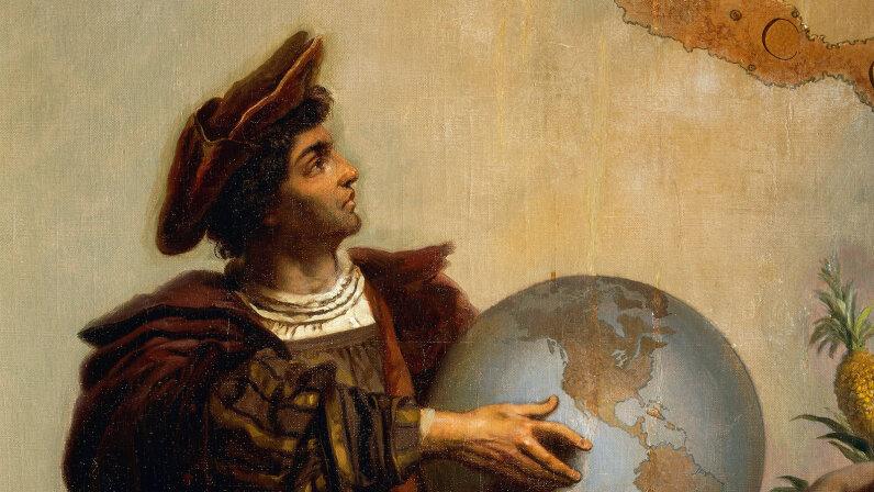 Christopher Columbus painting