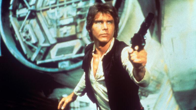 """Han Solo in 1977's """"Star Wars"""""""