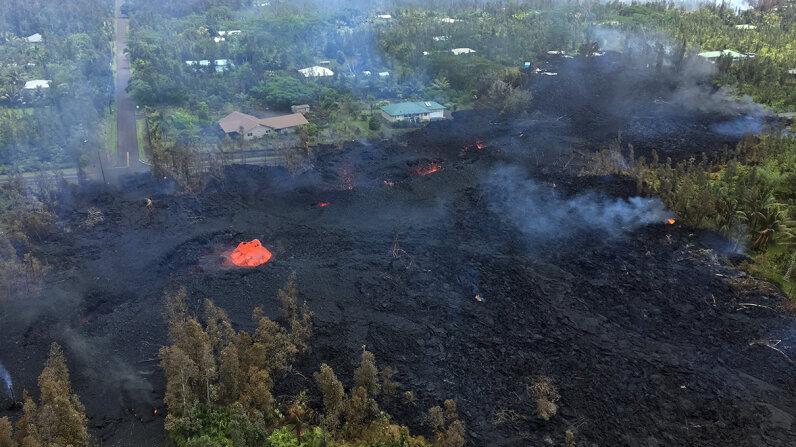 Kilauea eruption fissure