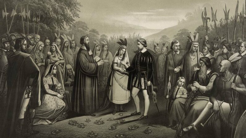 Pocahontas married John Rolfe