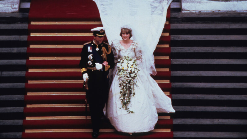 Princess Di and Prince Charles leaving St. Paul's Cathedral