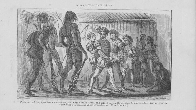 Amerigo Vespucci meets natives