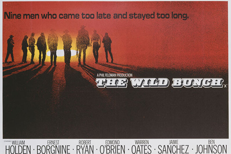 "Of course we included a Western on this list, and it couldn't have been anything but ""The Wild Bunch."" Movie Poster Image Art/Getty Images"