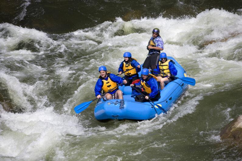 White-water rafting in Colorado Ben Blankenburg/ThinkStock