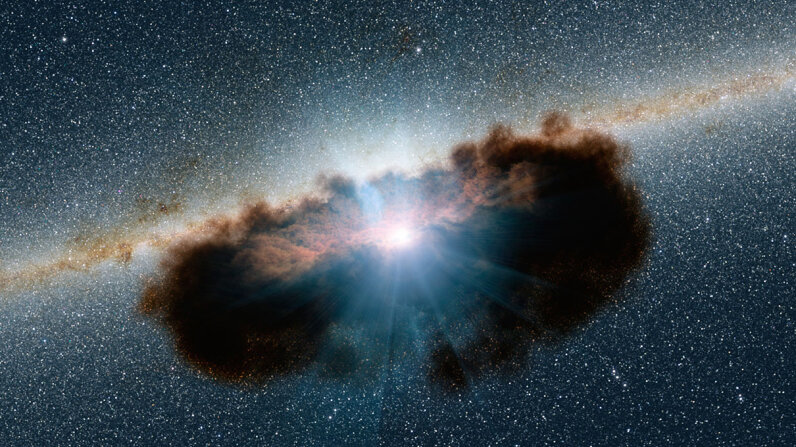 doughnut of dust and gas surrounding an active supermassive black hole