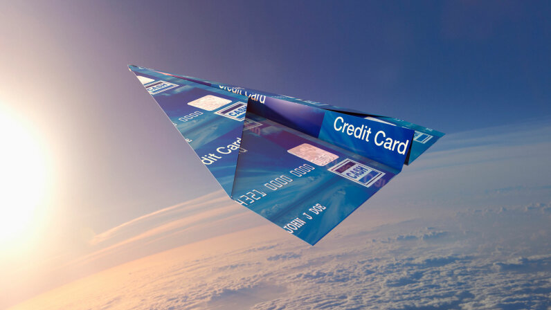 credit card airplane