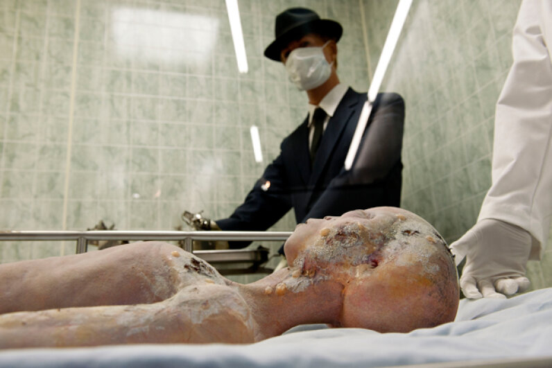Alien autopsies are recreated for a display at the UFO Museum in Roswell, N.M. © Alex Milan Tracy/NurPhoto/Corbis