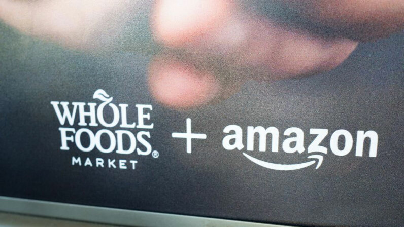 Whole Foods & Amazon sign