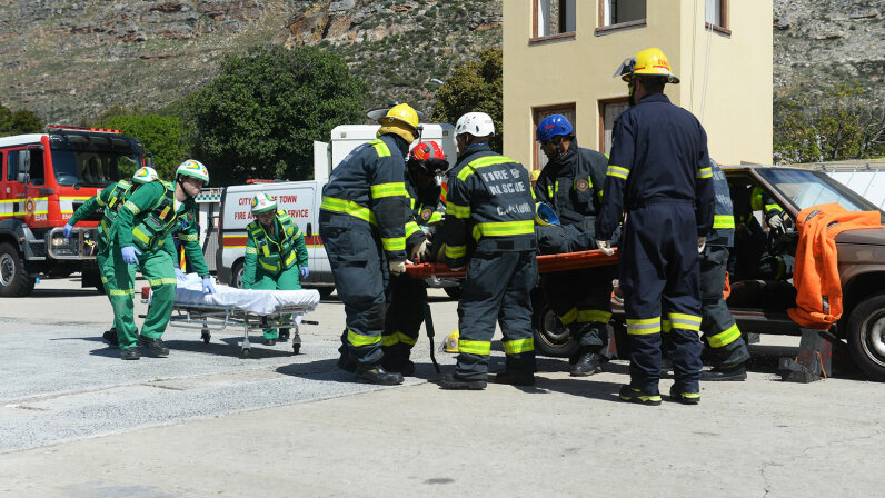 training rescue, South Africa