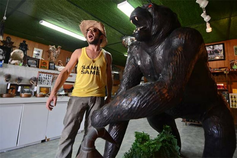 The Skunk Ape headquarters gift shop in Everglades National Park, Florida, is a low-tech affair. Geoff Gallice/Flckr