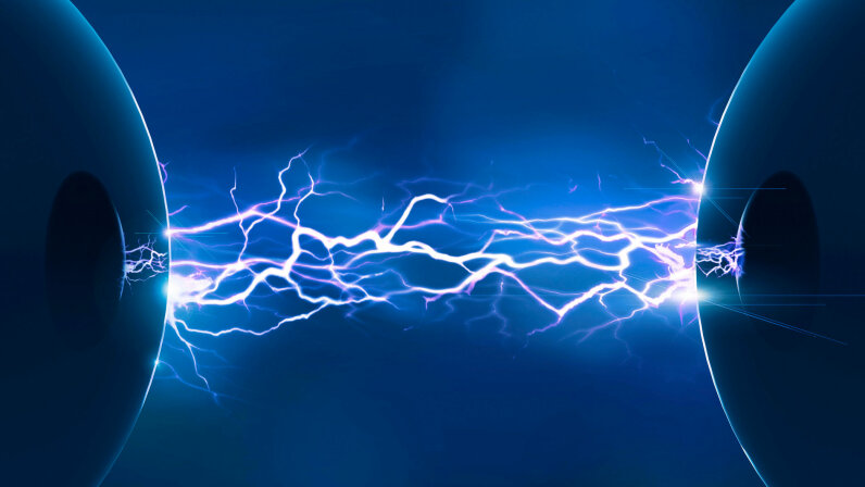 artists' rendering of electric current