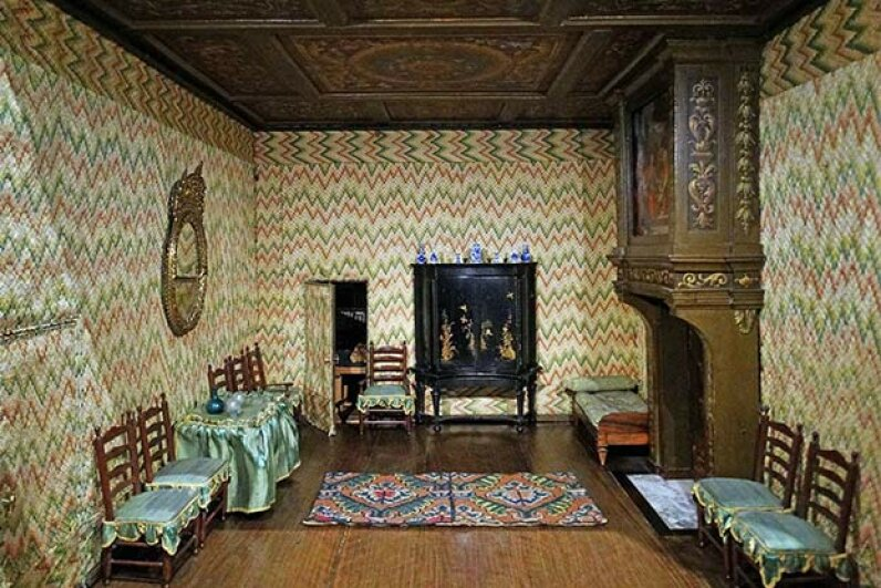 This realistic dollhouse was created in the early 1700s and belonged to a woman named Petronella Oortman. It can be seen at the Rijksmuseum in Amsterdam.  Universal History Archive/UIG via Getty Images