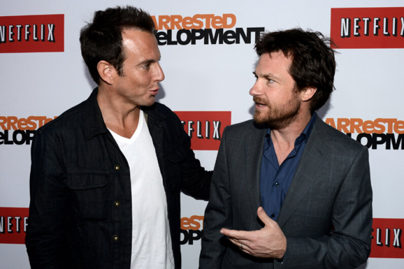 "Will Arnett and Jason Bateman starred in ""Arrested Development""; the gap between the third and fourth seasons of the show spanned seven years. Kevin Winter/Getty Images"