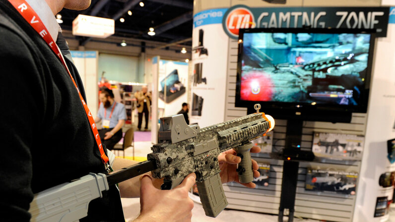 assault rifle controller video game