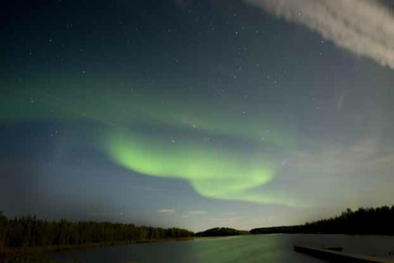 Yellowknife''s clear skies make your chances of seeing the aurora borealis all the more likely. Ryerson Clark/E+/Getty Images