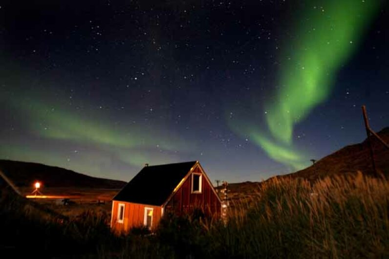 The rustic accommodations in Kangerlussuaq might make Greenland all the more charming for some Northern Lights tourists. Uriel Sinai/Getty Images