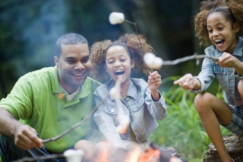 Like we said, marshmallows are always a hit. But you can get a little crazier than that with campfire food. Fuse/Thinkstock