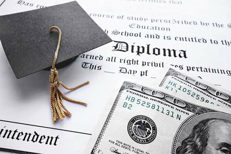 Student loans are one of the few types of loans that can't be discharged by declaring bankruptcy. zimmytws/iStock/Thinkstock