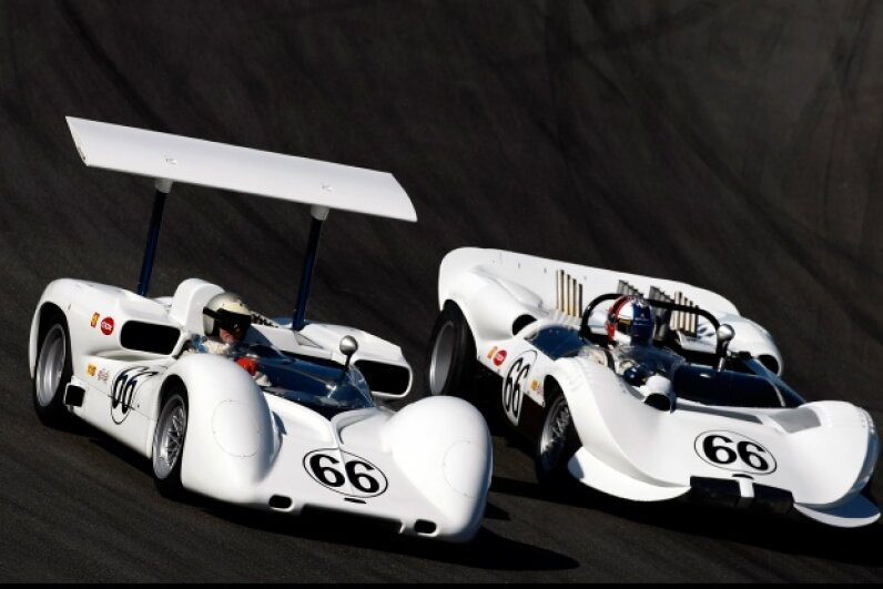The spoiler on the Chaparral 2E was outlawed. Jonathan Ferrey/Getty Images Sport/Getty Images
