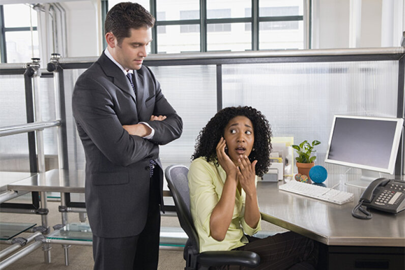 Sneaking up on your staff is not cool. Creatas Images/Thinkstock