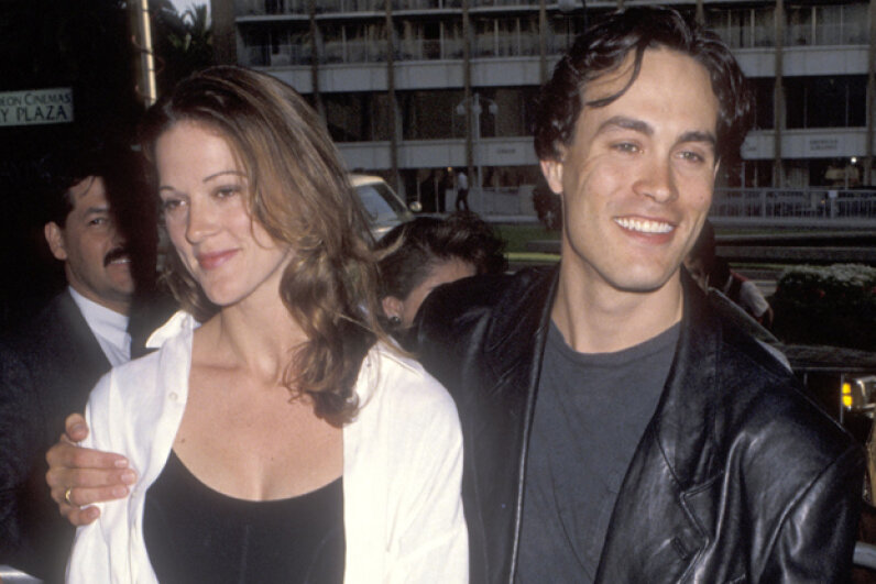 Actor Brandon Lee and girlfriend Eliza Hutton attend a Los Angeles film premiere in 1992. Ron Galella, Ltd./WireImage/Getty Images